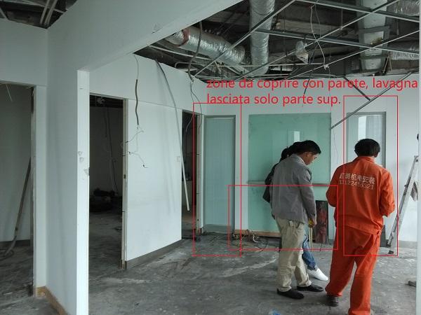 office 2, coperture parete e mezza lavagna